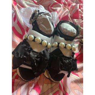 スワンキス(Swankiss)のスワンキス Swankiss EV ribbon sandal 即日発送(サンダル)