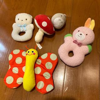 ミキハウス(mikihouse)の【a様専用】ラトル かしゃかしゃ おもちゃ(がらがら/ラトル)