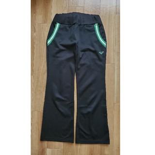 ロキシー(Roxy)のROXY ロキシー ジャージ パンツ 黒 緑 Sサイズ(カジュアルパンツ)