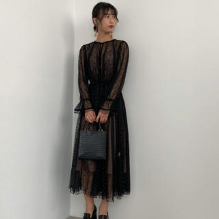 アメリヴィンテージ(Ameri VINTAGE)のMANY WAY MIX DOT DRESS(ロングワンピース/マキシワンピース)