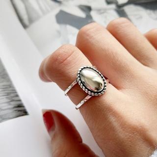 ミラオーウェン(Mila Owen)のシルバー925 スターリングシルバー オーバルデザインリング 955(リング(指輪))