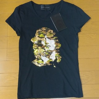 新品未使用DartinBonapartoスパンコールTシャツ(Tシャツ(半袖/袖なし))