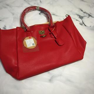 グレイル(GRL)の《新品未使用》GRL グレイル 赤 ハンドバッグ タグ付(ハンドバッグ)