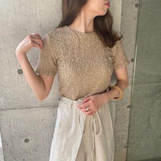 トゥデイフル(TODAYFUL)の[新品未使用タグ付き]I_am cotton round cut (Tシャツ/カットソー(半袖/袖なし))