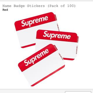 シュプリーム(Supreme)のSupreme  Name Badge Stickers Red(ノート/メモ帳/ふせん)