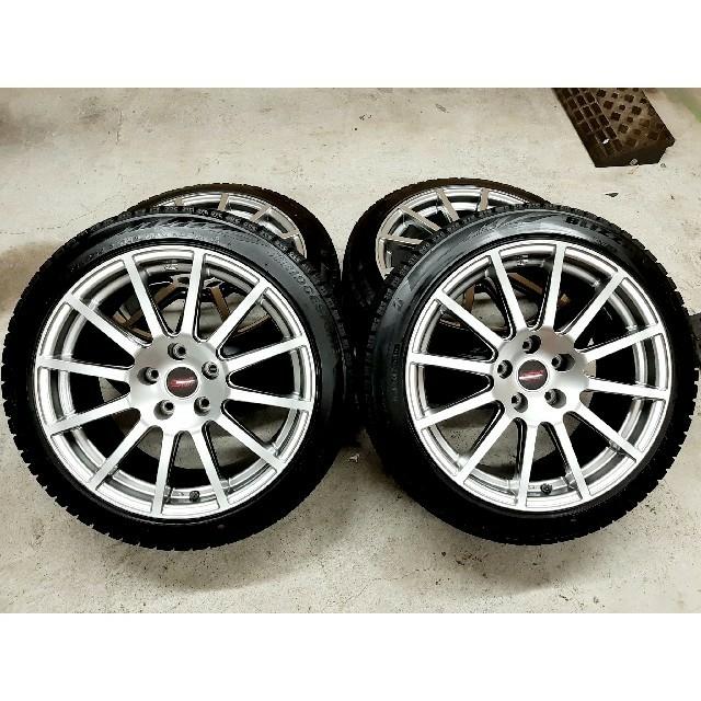 スバル(スバル)のスバル WRX STI  限定車 18インチ純正ホイール  ブリザックVRX2 自動車/バイクの自動車(タイヤ・ホイールセット)の商品写真