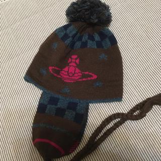 ヴィヴィアンウエストウッド(Vivienne Westwood)の専用品です ヴィヴィアンウエストウッド耳当て付ニット帽(ニット帽/ビーニー)