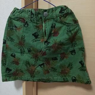 ダブルビー(DOUBLE.B)のミキハウスハイビスカス柄スカート120130(スカート)