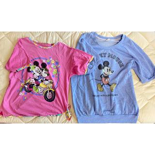 ディズニー(Disney)のディズニー ミッキー ミニー 半袖 Tシャツ レディース(セット/コーデ)