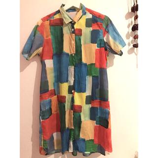 グラニフ(Design Tshirts Store graniph)の☘グラニフ♫シャツワンピース☘北欧風(その他)