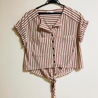 ココディール(COCO DEAL)のココディール ストライプ ブラウス(シャツ/ブラウス(半袖/袖なし))