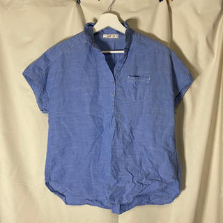 チャイルドウーマン(CHILD WOMAN)のデニム素材 半袖シャツ(シャツ/ブラウス(半袖/袖なし))
