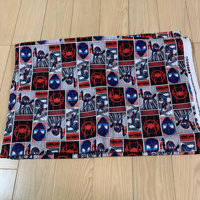 MARVEL(マーベル)のスパイダーマン スパイダーバース 生地 ハンドメイドの素材/材料(生地/糸)の商品写真