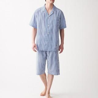 ムジルシリョウヒン(MUJI (無印良品))の脇に縫い目のない サッカー織り 半袖パジャマ(その他)