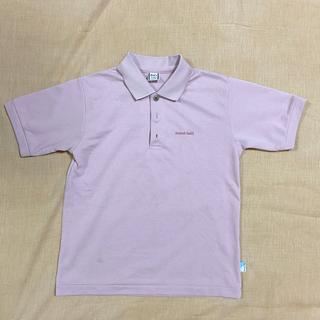 モンベル(mont bell)のモンベル ポロシャツ ピンク 120 ウィックロン 吸水速乾(Tシャツ/カットソー)