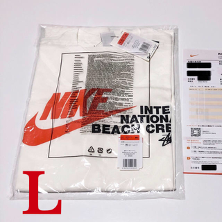 ナイキ(NIKE)の国内正規品 L NIKE STUSSY Tシャツ ホワイト(Tシャツ/カットソー(半袖/袖なし))