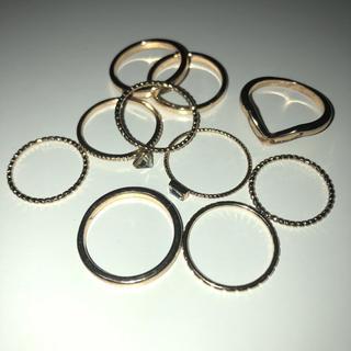 フォーエバートゥエンティーワン(FOREVER 21)のファラジリング サイズ色々 お洒落 リング ゴールド(リング(指輪))