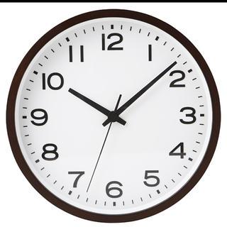 ムジルシリョウヒン(MUJI (無印良品))の激安!新品 ★無印良品 アナログ時計・大 掛時計・ブナ材 ブラウン限定 掛け時計(掛時計/柱時計)