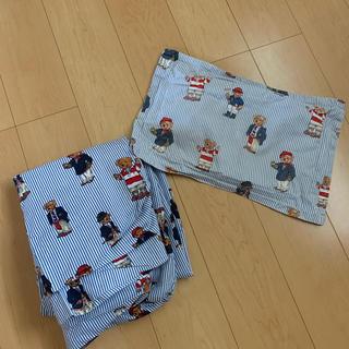 ラルフローレン(Ralph Lauren)のラルフローレン ベアー シングル ボックスシーツ 新品 枕ケース(used)(シーツ/カバー)