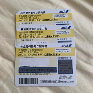 ANA(全日本空輸) - 2021年5月末まで期間延長☆ANA株主優待券3枚