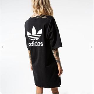 アディダス(adidas)のアディダスオリジナルス オーバーサイズド トレフォイル ワンピース XL(ひざ丈ワンピース)
