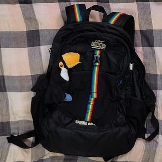 チャムス(CHUMS)のリュック 黒×レインボー(旅行用品)