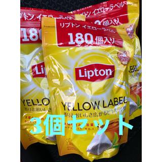 リプトン 紅茶 イエローラベル 180個 ティーバッグ 三角コストコ 3個セット(茶)