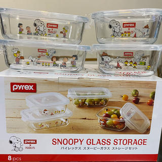 ピーナッツ(PEANUTS)のスヌーピー パイレックス snoopy  ピーナッツ 保存容器 ガラスストレージ(容器)