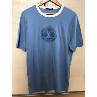 ルイヴィトン(LOUIS VUITTON)のLOUIS VUITTON ルイヴィトン LVスタンプ Tシャツ ブルー L(Tシャツ/カットソー(半袖/袖なし))
