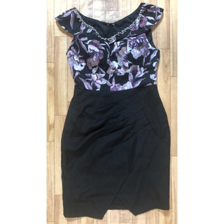 ジュエルズ(JEWELS)のAMANDABLACK 花柄ブラックドレス(ナイトドレス)