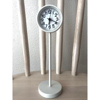 ムジルシリョウヒン(MUJI (無印良品))の無印良品 公園の時計 ミニ置き時計 ホワイト(置時計)