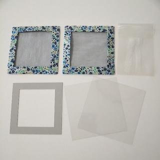 布コースターキット❬ミシン不要❭  リバティプリントの外枠2枚      (型紙/パターン)