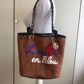 ランバンオンブルー(LANVIN en Bleu)の極美品 ◆ LANVIN en Bleu スリーシーズンショルダーバッグ トート(ショルダーバッグ)