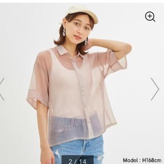 ジーユー(GU)のGUシアーオーバーサイズシャツ ジーユー Lサイズ新品未使用(シャツ/ブラウス(半袖/袖なし))