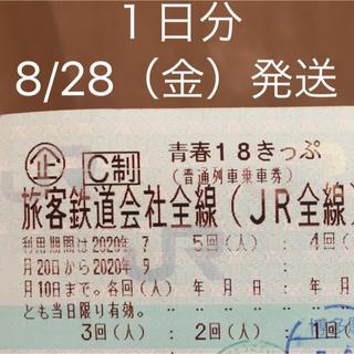 青春18きっぷ 1日分(鉄道乗車券)