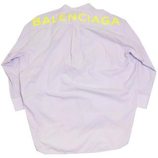 バレンシアガ(Balenciaga)のBALENCIAGA 2018SS バック ロゴ  シャツ  スカイブルー(Tシャツ(半袖/袖なし))