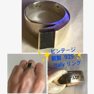 ビンテージ リング 🇮🇹製 silver925 ♦︎Black💍レアー(リング(指輪))