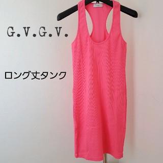 ジーヴィジーヴィ(G.V.G.V.)のGVGV/ネオンカラー/ピンク/ロング丈タンクトップ/タンクワンピース(タンクトップ)