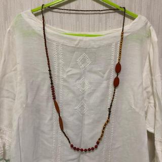 ムジルシリョウヒン(MUJI (無印良品))のウッドビーズ ネックレス(ネックレス)