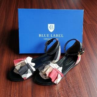 バーバリーブルーレーベル(BURBERRY BLUE LABEL)の新品☆BLUE LABEL CRESTBRIDGE サンダル(サンダル)