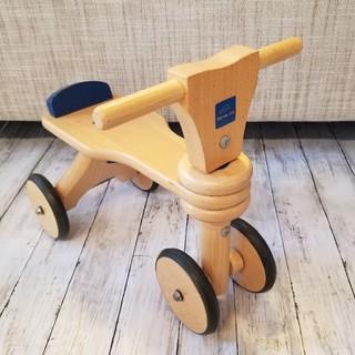 ボーネルンド(BorneLund)のBorneLund ボーネルンド木製 バイク 三輪車 四輪車 室内用(三輪車)