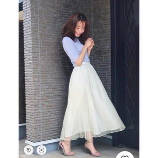 ダズリン(dazzlin)の最終値下チュールクリスタルプリーツスカート♡スナイデル ナイスクラップ ダズリン(ロングスカート)