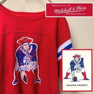 ミッチェルアンドネス(MITCHELL & NESS)のミッチェルアンドネス フットボールTシャツ XL ペイトリオッツ NFL(Tシャツ/カットソー(半袖/袖なし))