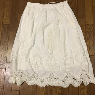 イッカ(ikka)の綿レーススカート(ひざ丈スカート)
