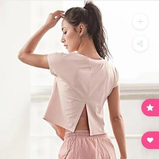 ルルレモン(lululemon)の【ぺったん様専用】sloli 半袖ランニングTシャツ ピンク Mサイズ(ウェア)