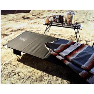 ドッペルギャンガー(DOPPELGANGER)のDOD ワイドキャンピングベッド 黒(寝袋/寝具)