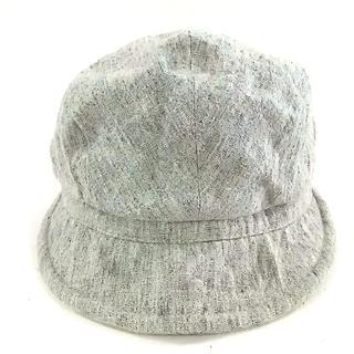 バーニーズニューヨーク(BARNEYS NEW YORK)のバーニーズ ハンチング 57cm グレー 麻(ハンチング/ベレー帽)