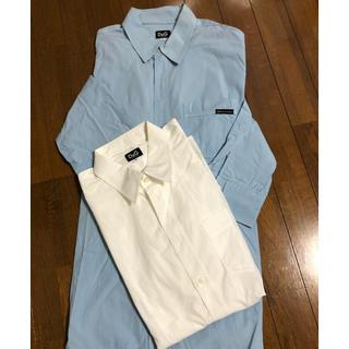 ドルチェアンドガッバーナ(DOLCE&GABBANA)のドルガバ ワイシャツ L ブルー&ホワイト 2枚組(シャツ)