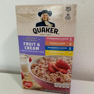 クエーカー オートミール フルーツ & クリーム 1箱8袋入り(米/穀物)