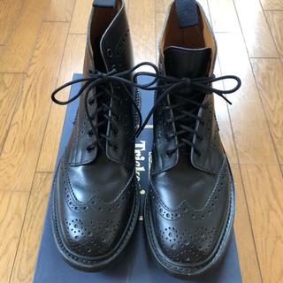 トリッカーズ(Trickers)のトリッカーズ カントリーブーツ size7H  ブラック ストウ モールトン(ドレス/ビジネス)